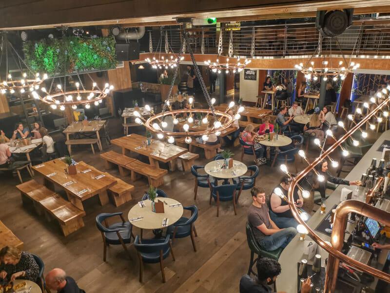 Brewhemia Bar Edinburgh, people drinking_