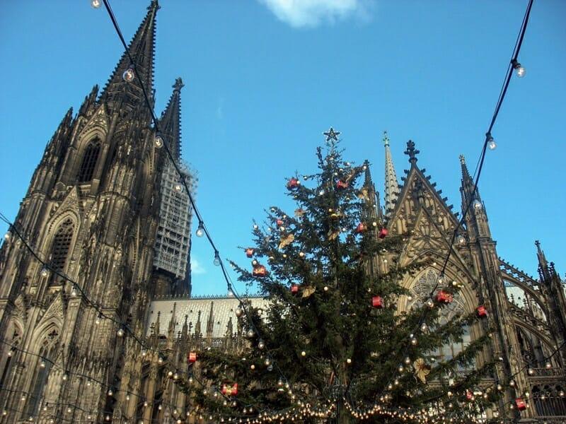 Cologne Christmas Market tree