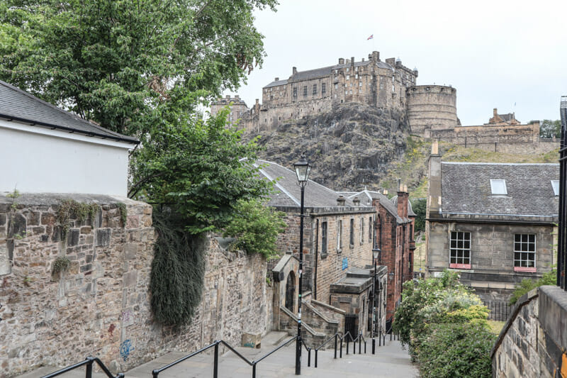 Edinburgh Castle from the Vennell