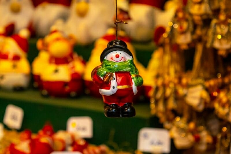 Salzburg Christmas. Market decoration