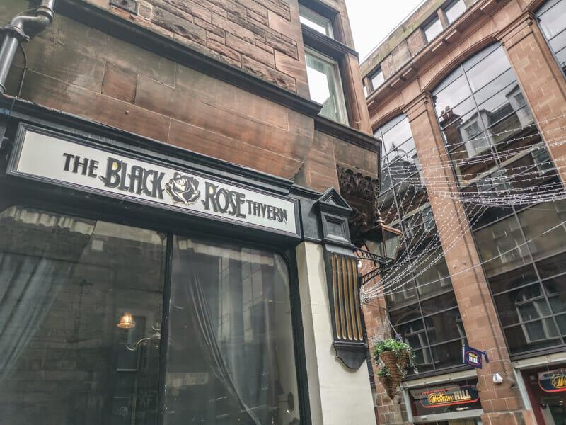 The Black Rose Edinburgh Rose Street with people