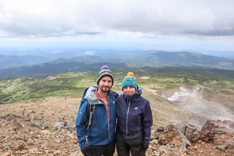 Craig and Gemma Mount Asahidake Japan_