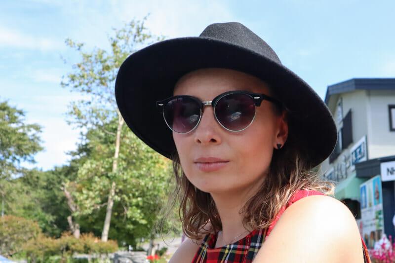 Gemma tartan hat_