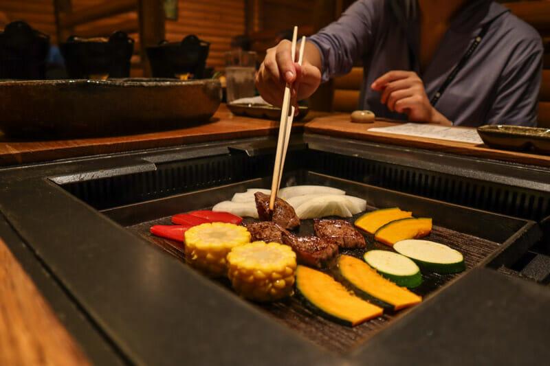 Grilled food La Vista Hotel Asahidake Onsen Hokkaido