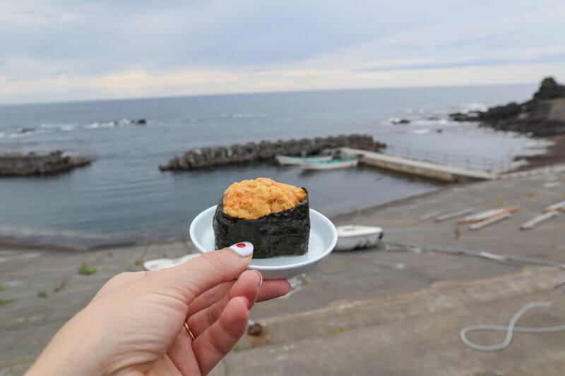 Sea Urchin Sushi Kamui Kaigan Park Irishi_