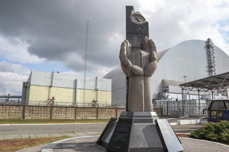 Chernobyl Memorial Statue_