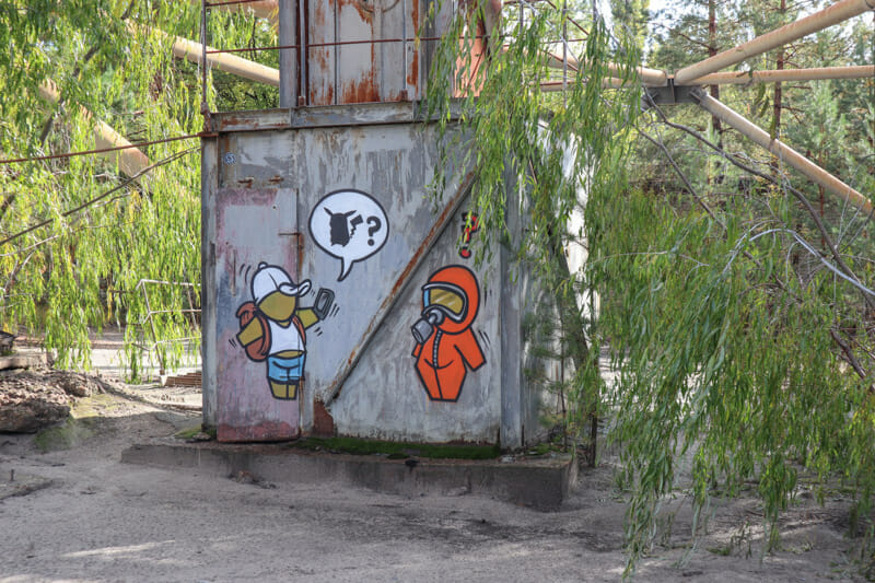 Duga Radar Chernobyl Street Art Mural