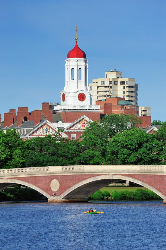 Harvard University, bridge, kayak