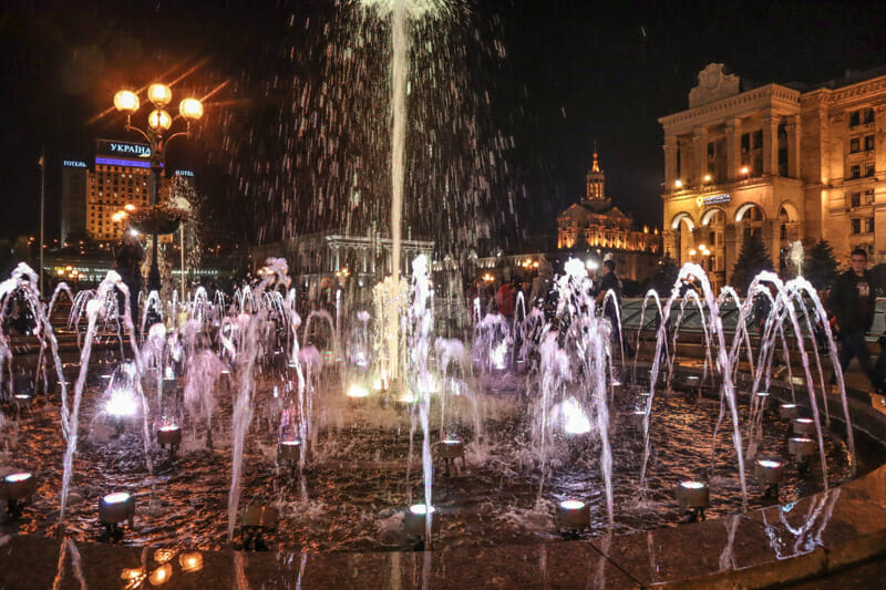 Maidan Nezalezhnosti Independence Square Fountains