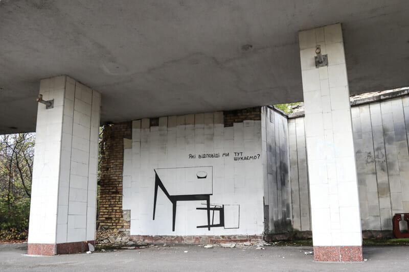Pripyat Street Art Mural Table