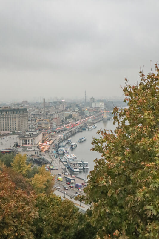 View from Friendship Arch KIev