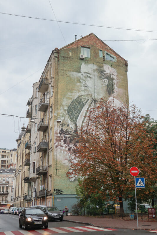Traditional Girl Lilly of the Valley by Guido van Helten 28 Striletska Street