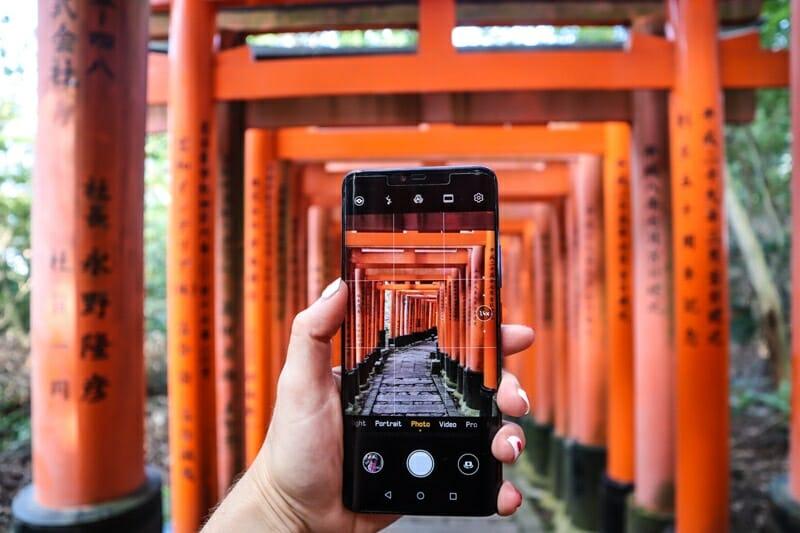 Fushimi Inari Shrine Camera Shot