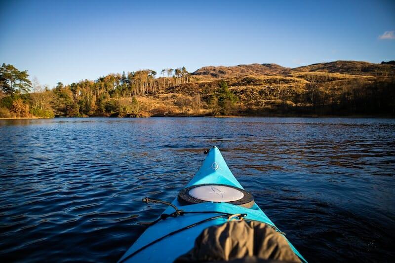 Kayaking on Loch Trool - GSA Biosphere - Photo by Kathi Kamleitner