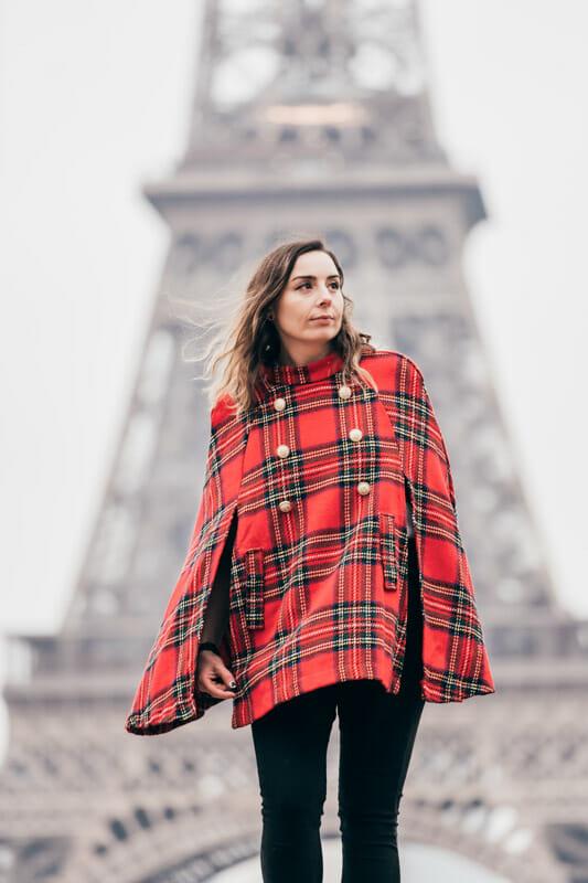 Eiffel Tower Gemma standing windy