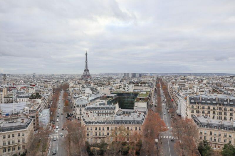 Paris views from Arch de Triumph