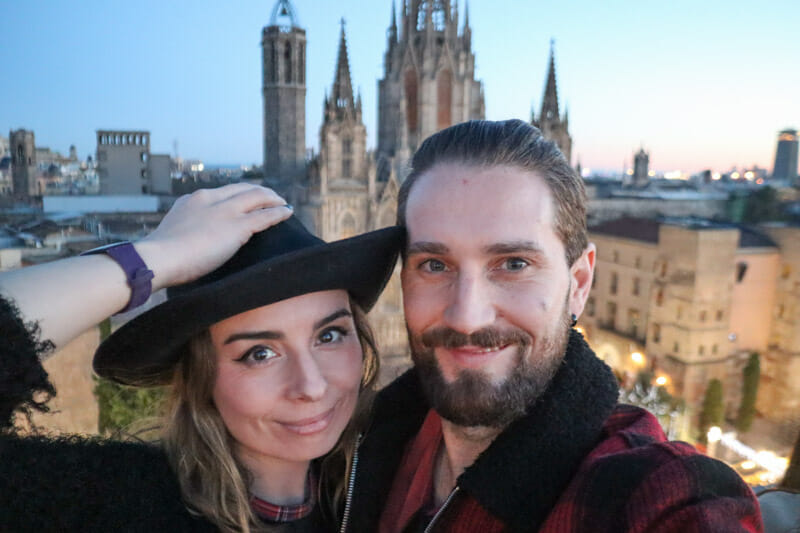 Barcelona Cathedral Gemma and Craig