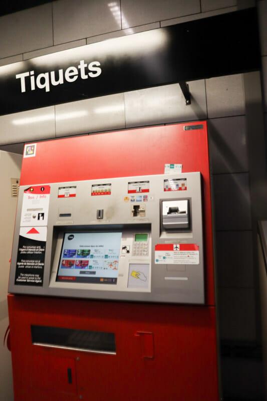 Barcelona Metro Ticket Machine