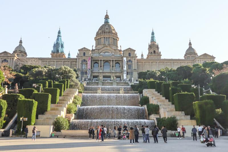 Barcelona Palau Nacional Waterfalls