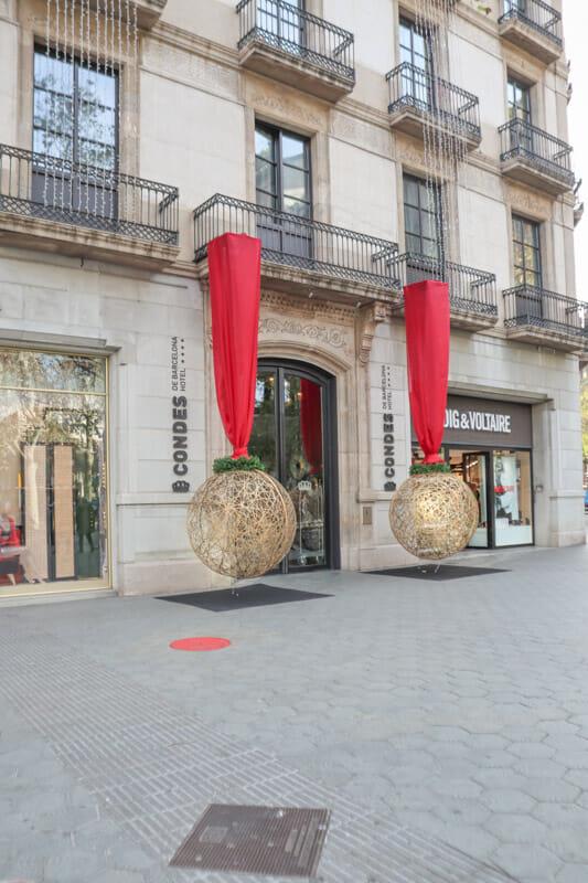 Barcelona Store Christmas Decorations