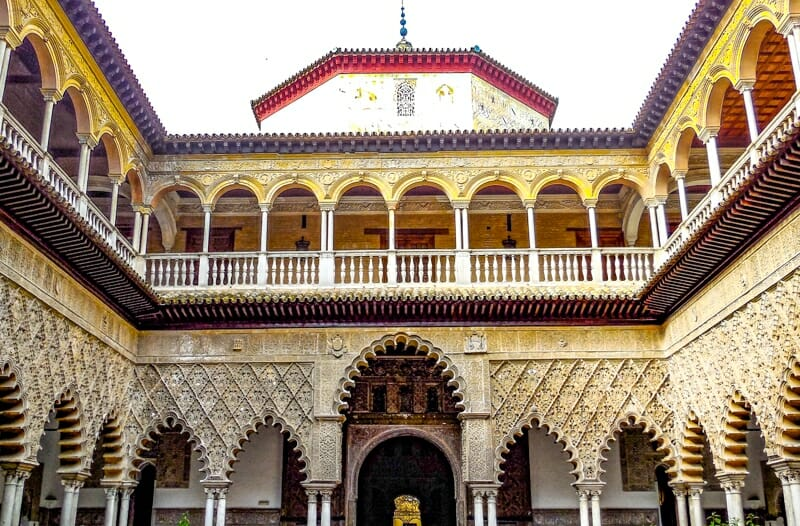 Courtyard of the Maidens Royal Alcazar Seville