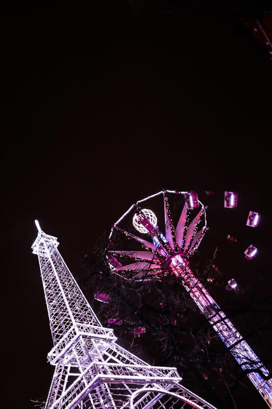Fairground Ride Christmas Market Paris_