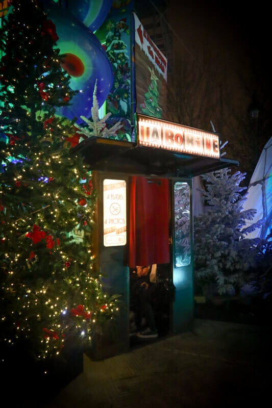 Jardin des Tuileries Christmas Market Photobooth