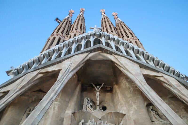 La Sagrada Familia Jesus on Cross_