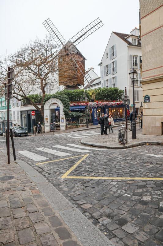 Le Moulin Blute-Fin Windmill in Paris-