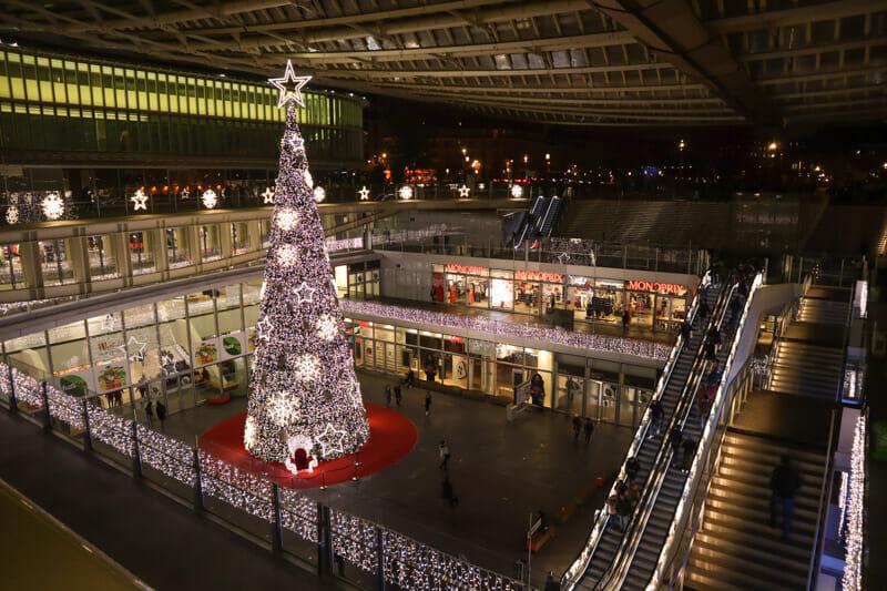 Les Halles Xmas Tree in Paris
