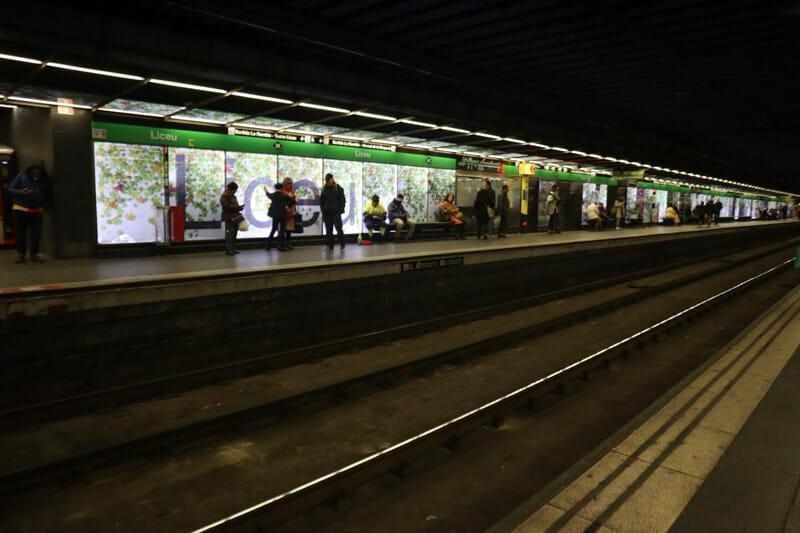 Metro Station Barcelona_