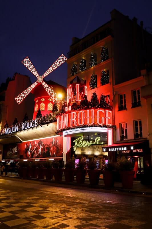 Moulin Rogue in Paris_