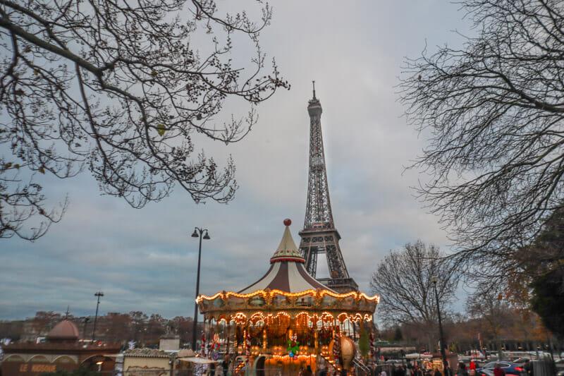 Paris Eiffel Tower Merry Go Round_