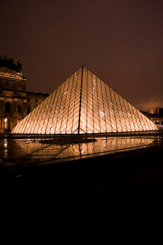 Paris Louvre at Night