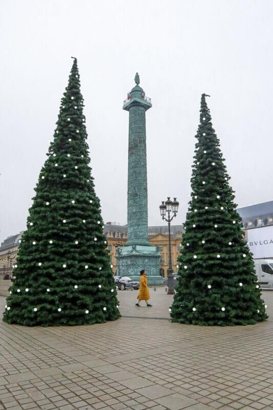 Place Vendôme Christmas Trees Paris