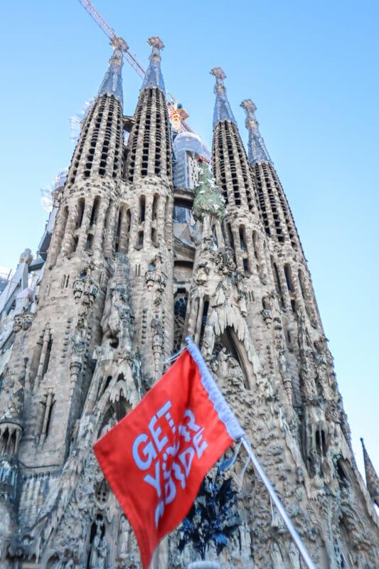 Sagrada Familia Get Your Guide Flag