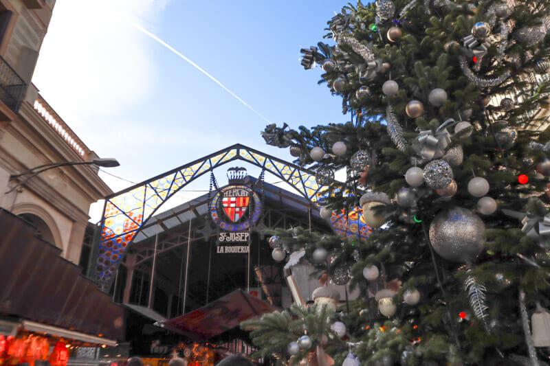 St Josephs Market Christmas Tree Barcelona_