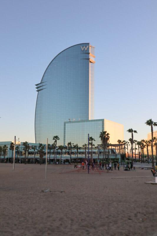 W Hotel in Barcelona_