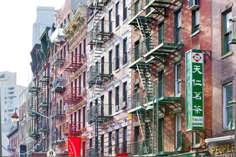 Chinatown Buildings New York