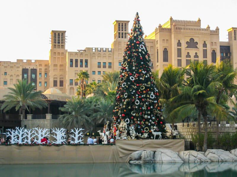 Christmas tree in the center of Dubai