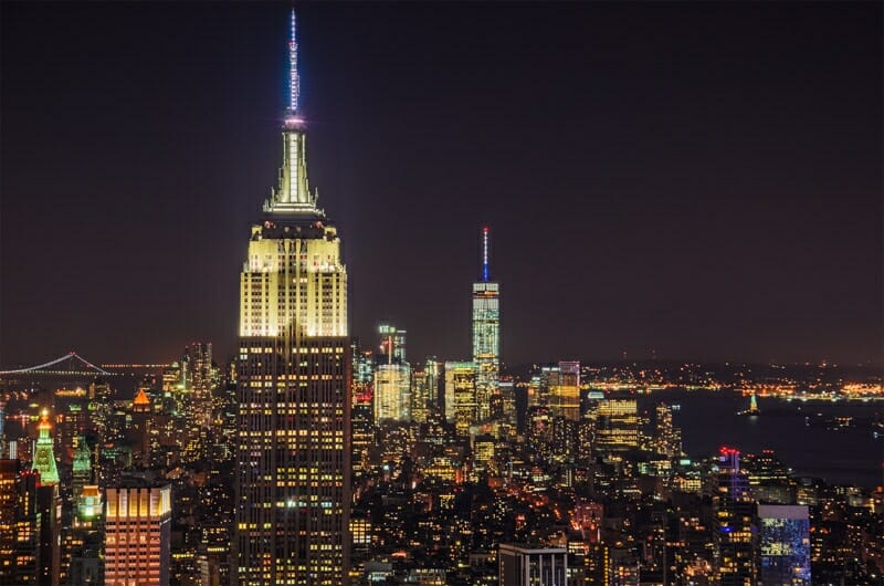 Empire State Building at Night NYC