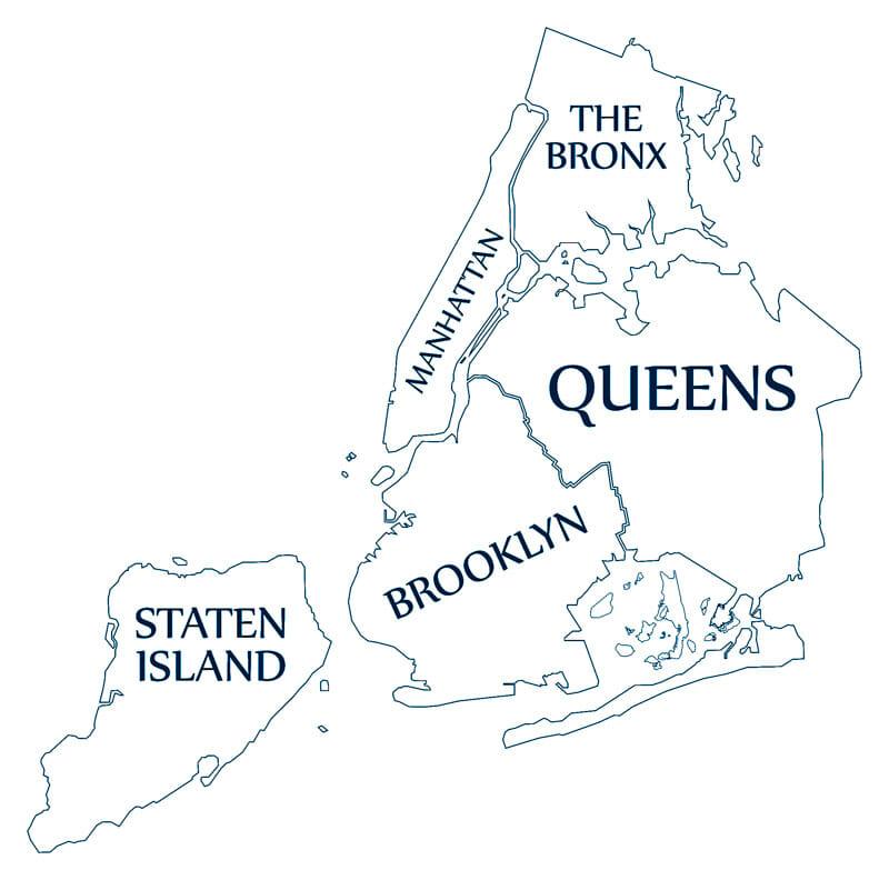 Five Boroughs New York Map