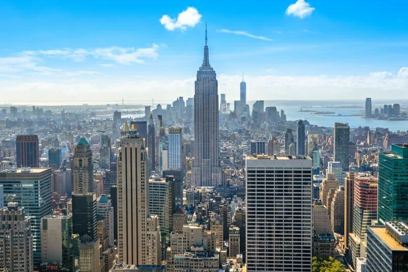 Midtown Manhattan from Rockefeller Observatory NYC