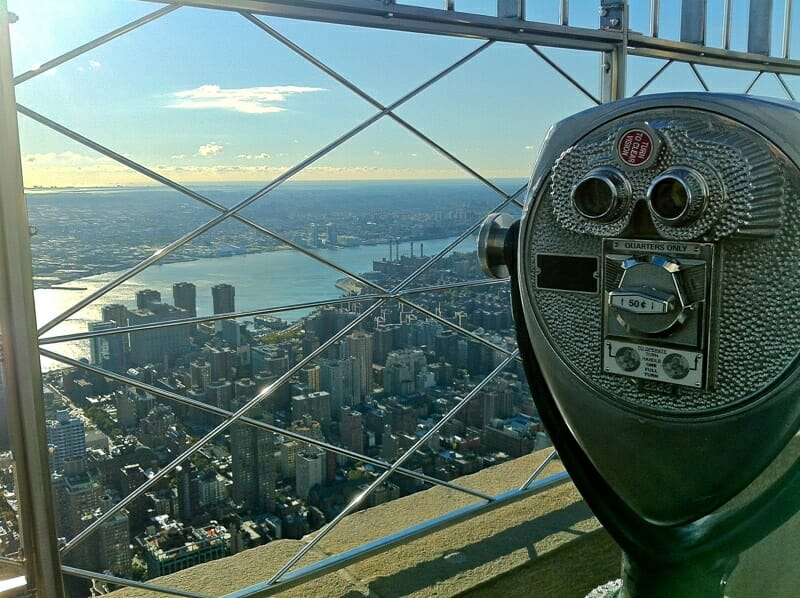 View from Empire State Building NYC