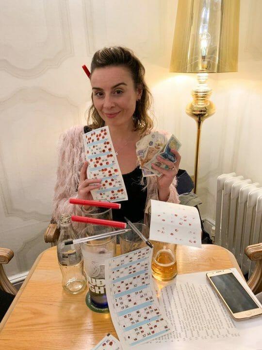 Gemma playing Bingo