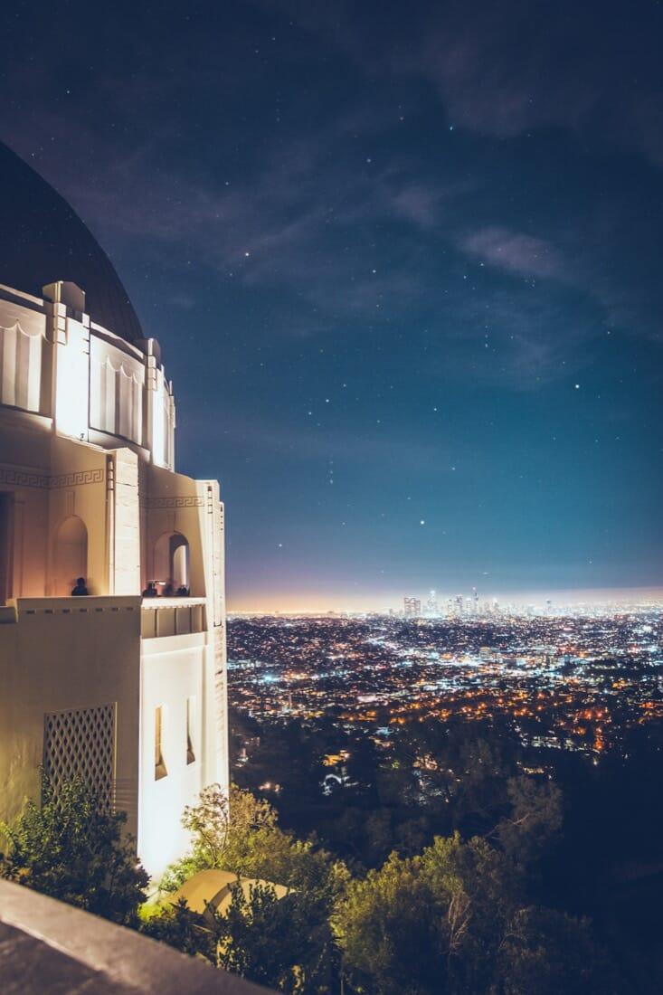 Griffith Observatory view over LA skyline