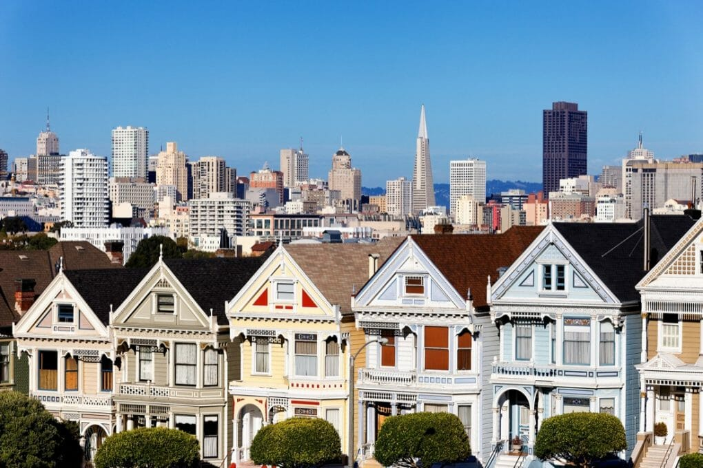 Painted Ladies Colorful Houses San Francisco