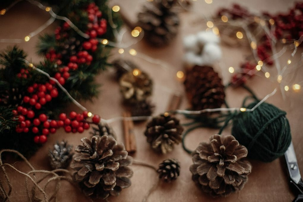 Wreath making craft table