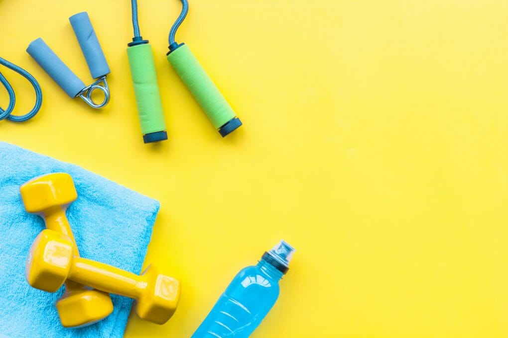Working out at home exercise items