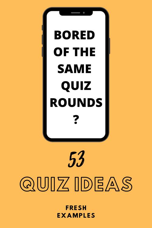 Fun quiz ideas, quiz round ideas, trivia round ideas, quiz questions and answers, general knowledge round, music round ideas, picture round ideas, movie round, interactive round, pop culture, sport, food